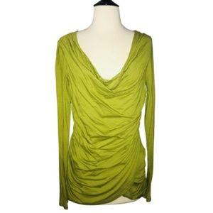 NWOT Worth Green Cowl Neck Drape Blouse